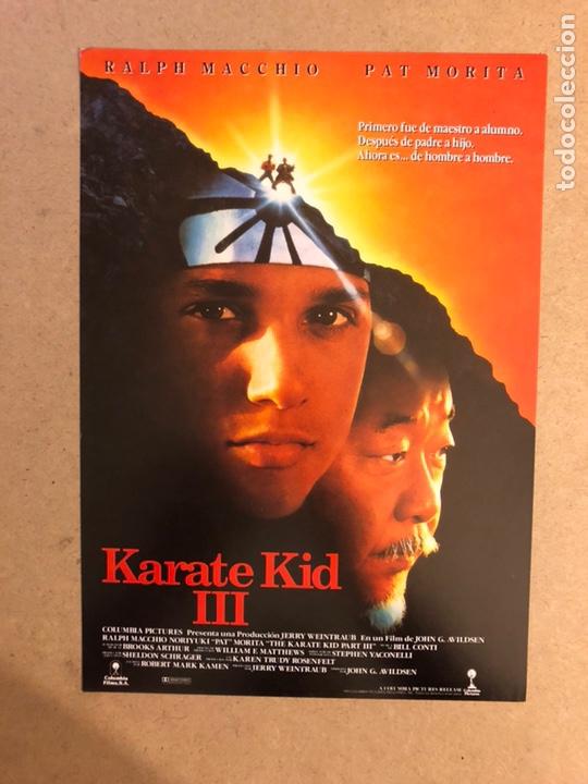 KARATE KID III. GUÍA PUBLICITARIA SIMPLE. IDEAL PARA ENMARCAR. (Cine - Guías Publicitarias de Películas )