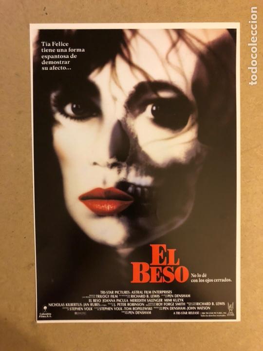 EL BESO. GUÍA PUBLICITARIA SIMPLE. IDEAL PARA ENMARCAR. (Cine - Guías Publicitarias de Películas )