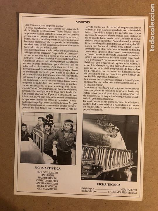 Cine: ESTOS LOCOS BOMBEROS. GUÍA PUBLICITARIA SIMPLE. IDEAL PARA ENMARCAR. - Foto 2 - 162426470