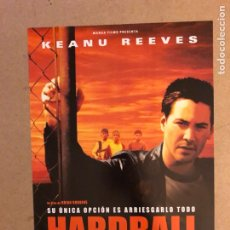 Cine: HARDBALL (KEANU REEVES). GUÍA PUBLICITARIA SIMPLE. IDEAL PARA ENMARCAR.. Lote 162426562