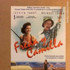 Cine: FRIDA Y CAMILLE. GUÍA PUBLICITARIA SIMPLE. IDEAL PARA ENMARCAR.. Lote 162426610