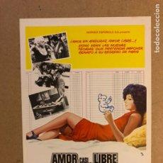 Cine: AMOR CASI... LIBRE. GUÍA PUBLICITARIA SIMPLE. IDEAL PARA ENMARCAR.. Lote 162426782