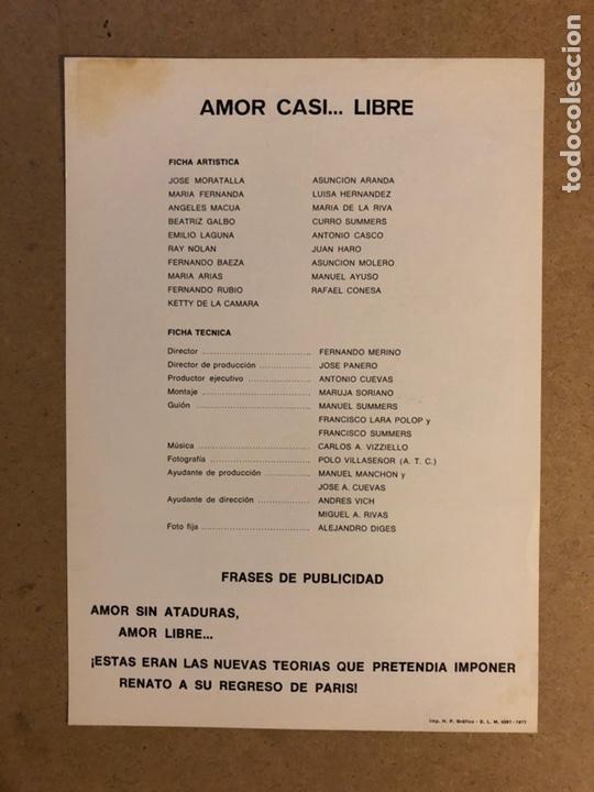 Cine: AMOR CASI... LIBRE. GUÍA PUBLICITARIA SIMPLE. IDEAL PARA ENMARCAR. - Foto 2 - 162426782