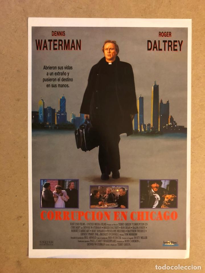 CORRUPCIÓN EN CHICAGO. GUÍA PUBLICITARIA SIMPLE. IDEAL PARA ENMARCAR. (Cine - Guías Publicitarias de Películas )