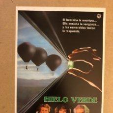Cine: HIELO VERDE. GUÍA PUBLICITARIA SIMPLE. IDEAL PARA ENMARCAR.. Lote 162426929
