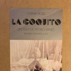 Cine: LA COQUITO (PEDRO MASÓ). GUÍA PUBLICITARIA SIMPLE. IDEAL PARA ENMARCAR.. Lote 162427066