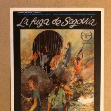 Cine: LA FUGA DE SEGOVIA (IMANOL URIBE). GUÍA PUBLICITARIA DE LA PELÍCULA. IDEAL PARA ENMARCAR.. Lote 162427861