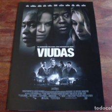 Cine: VIUDAS - VIOLA DAVIS, LIAM NEESON, ROBERT DUVALL, MICHELLE RODRIGUEZ - GUIA ORIGINAL FOX AÑO 2018. Lote 194974910