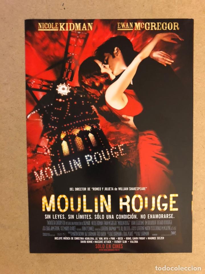 MOULIN ROUGE (NIKOLE KIDMAN, EWAN MCGREGOR,..). GUÍA PUBLICITARIA DE LA PELÍCULA. (Cine - Guías Publicitarias de Películas )