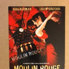 Cine: MOULIN ROUGE (NIKOLE KIDMAN, EWAN MCGREGOR,..). GUÍA PUBLICITARIA DE LA PELÍCULA.. Lote 162479594