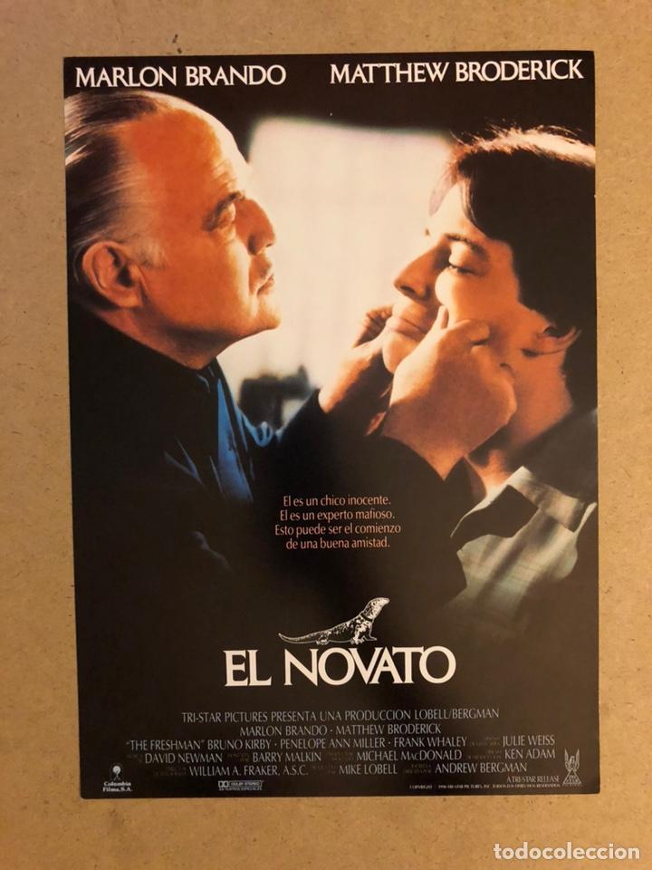 EL NOVATO (MARLON BRANDO, MATTHEW BRODERICK,..). GUÍA PUBLICITARIA DE LA PELÍCULA. (Cine - Guías Publicitarias de Películas )