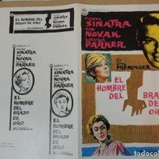 Cinema: EL HOMBRE DEL BRAZO DE ORO - GUIA PUBLICITARIA - THE MAN WITH THE GOLDEN ARM KIM NOVAK SINATRA. Lote 162480390