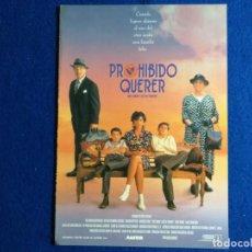 Cine: GUIA PUBLICITARIA. PROHIBIDO QUERER. MERCEDES RUEHL Y RICHARD DREYFUSS. Lote 162488818