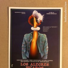 Cine: LOS ALEGRES PÍCAROS (MARIO MONICELLI). GUÍA PUBLICITARIA DE LA PELÍCULA, IDEAL PARA ENMARCAR.. Lote 162510554