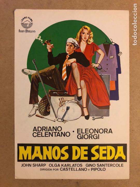 MANOS DE SEDA (ADRIANO CELENTANO). GUÍA PUBLICITARIA DE LA PELÍCULA, IDEAL PARA ENMARCAR. (Cine - Guías Publicitarias de Películas )