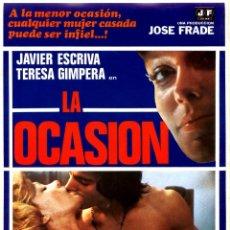 Cine: LA OCASIÓN (GUÍA ORIGINAL DOBLE CON FOTOS ESTRENO EN ESPAÑA) TERESA GIMPERA DIRECTOR JOSÉ R. LARRAZ. Lote 235910035
