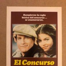 Cine: EL CONCURSO (RICHARD DREYFUSS). GUÍA PUBLICITARIA DE LA PELÍCULA, IDEAL PARA ENMARCAR.. Lote 162634433