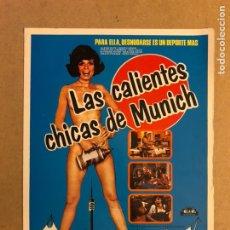Cine: LAS CALIENTES CHICAS DE MÚNICH (CLASIFICADA S). GUÍA PUBLICITARIA DE LA PELÍCULA.. Lote 162647565