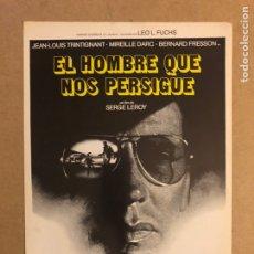 Cine: EL HOMBRE QUE NOS PERSIGUE (SERGE LEROY). GUÍA PUBLICITARIA DE LA PELÍCULA. Lote 162649864