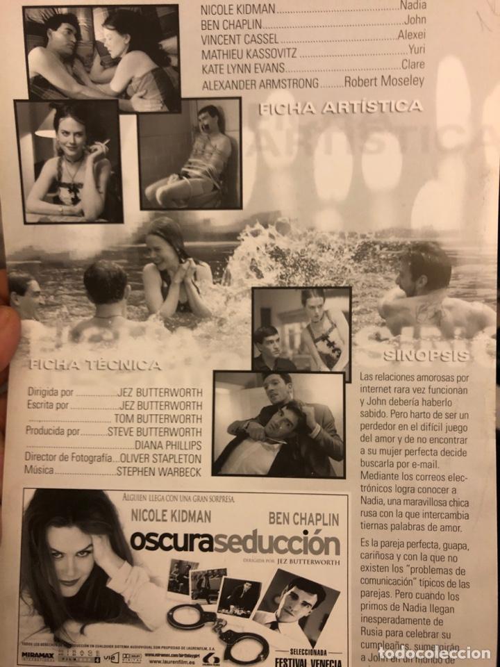 Cine: OSCURA SEDUCCIÓN (NIKOLE KIDMAN). GUÍA PUBLICITARIA DE LA PELÍCULA, IDEAL PARA ENMARCAR. - Foto 2 - 162653918