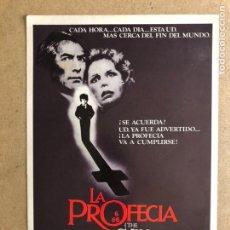 Cine: LA PROFECÍA (THE OMEN). RICHARD DONNER. GUÍA PROMOCIONAL DEL ESTRENO, IDEAL PARA ENMARCAR.. Lote 162715369