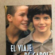 Cine: EL VIAJE DE CAROL (IMANOL URIBE). GUÍA PROMOCIONAL DEL ESTRENO, IDEAL PARA ENMARCAR.. Lote 162786364