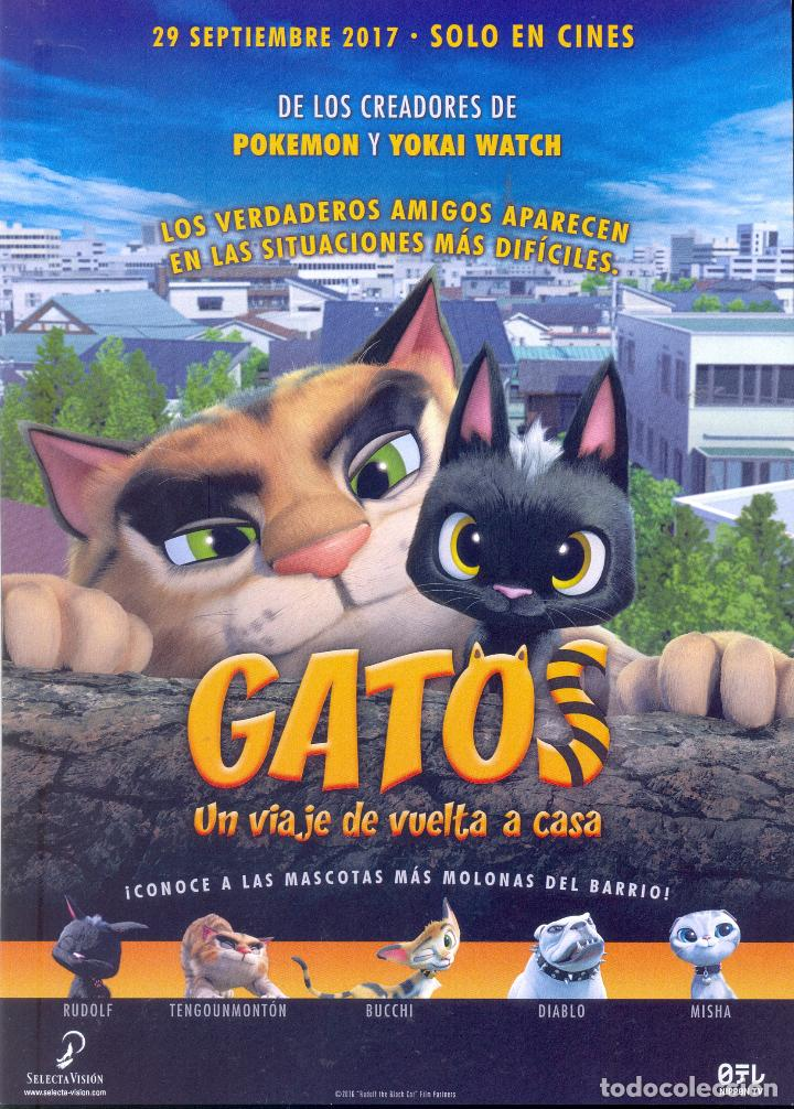 GATOS. UN VIAJE DE VUELTA A CASA. GUIA ORIGINAL ESTRENO. (Cine - Guías Publicitarias de Películas )
