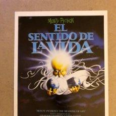 Cine: EL SENTIDO DE LA VIDA (MONTHY PYTHON). GUÍA PUBLICITARIA DE LA PELÍCULA, IDEAL PARA ENMARCAR.. Lote 162981925