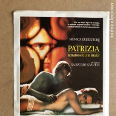 Cine: PATRIZIA, RETRATOS DE UNA MUJER (MONICA GUERRITORE). GUÍA PUBLICITARIA DE LA PELÍCULA. 21 X 30 CMS.. Lote 162988908