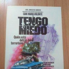 Cine: J----GUIA DE LA PELICULA-- TENGO MIEDO. Lote 163578570
