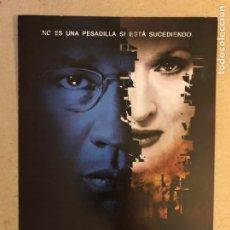 Cine: EL MENSAJERO DEL MIEDO (MERYL STREEP, DENZEL WASHINGTON). GUÍA PROMOCIONAL DE LA PELÍCULA.. Lote 163804838