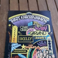 Cine: THAT'S ENTERTAINMENT. 1974. 32 PP. MUSICALES. EN INGLÉS.. Lote 163987582
