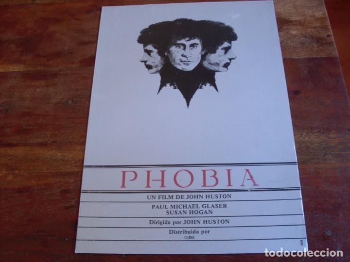 PHOBIA - PAUL MICHAEL GLASER, SUSAN HOGAN - DIR. JOHN HUSTON - GUIA ORIGINAL GLOBE FILMS AÑO 1980 (Cine - Guías Publicitarias de Películas )