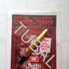 Cine: TUBAL 1984 FESTIVAL FANTASTIC 12 HORES DE TERROR CINEMA VIGATÁ VIC VICH DIPTICO. Lote 164271674