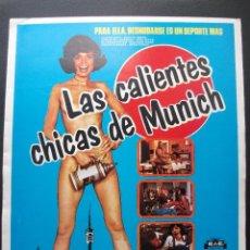 Cine: GUÍA PUBLICITARIA DE LA PELÍCULA LAS CALIENTES CHICAS DE MUNICH, DOBLE. Lote 164797710
