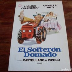 Cine: EL SOLTERON DOMADO - ADRIANO CELENTANO, ORNELLA MUTI - GUIA ORIGINAL IZARO FILMS AÑO 1981. Lote 165120822