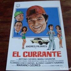 Cine: EL CURRANTE - ANDRES PAJARES, MARIA CASANOVA,ANTONIO OZORES - GUIA ORIGINAL IZARO FILMS AÑO 1983. Lote 165252878