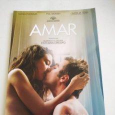 Cine: AMAR GUIA PUBLICITARIA ORIGINAL DE CINE. Lote 165615240