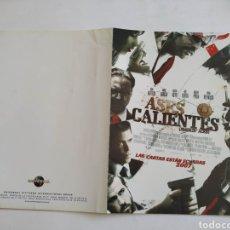Cine: ASES CALIENTES GUIA PUBLICITARIA ORIGINAL DE CINE. Lote 165614582