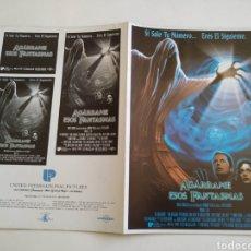 Cine: AGARRAME ESOS FANTASMAS GUIA PUBLICITARIA ORIGINAL DE CINE. Lote 194914338