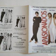 Cine: APASIONADOS GUIA PUBLICITARIA ORIGINAL DE CINE. Lote 165614174