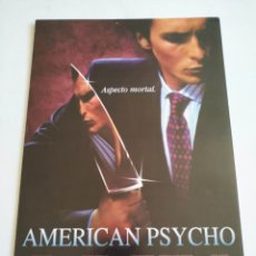 Cine: AMERICAN PSYCHO GUIA PUBLICITARIA ORIGINAL DE CINE. Lote 178390995