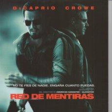 Cine: RED DE MENTIRAS. Lote 165712662