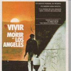 Cine: VIVIR Y MORIR EN LOS ANGELES. Lote 165721214