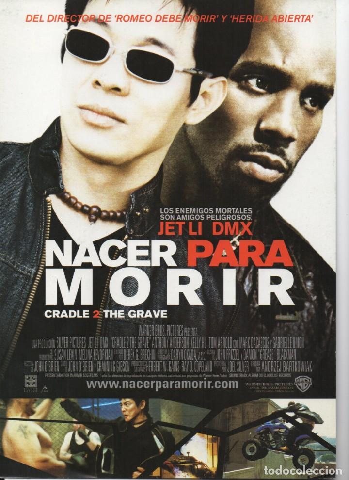 NACE PARA MORIR (Cine - Guías Publicitarias de Películas )