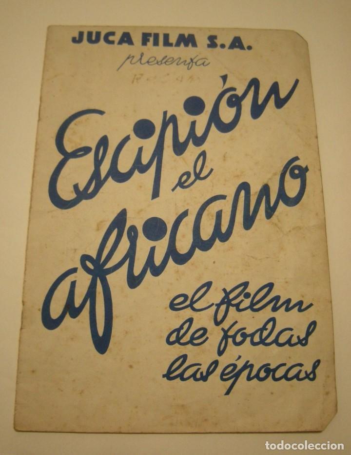 ESCIPION EL AFRICANO. JUCA FILMS,S.A. AÑO 1937 GUIA DE LA PELICULA VER FOTOS. (Cine - Guías Publicitarias de Películas )