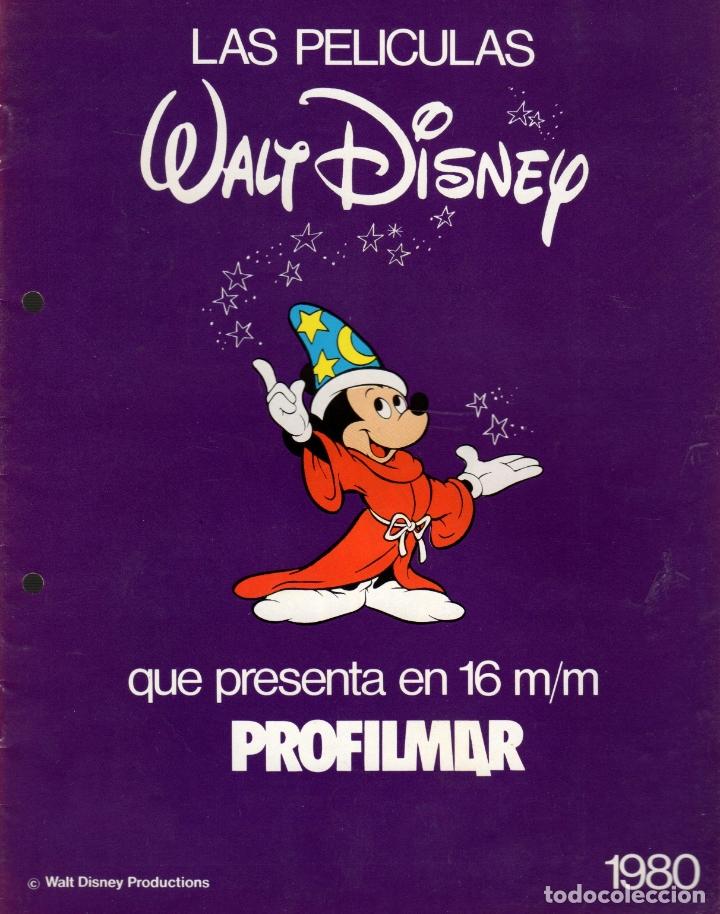 CATALOGO PROFILMAR DE PELICULAS DISNEY EN 16 MM. AÑO 1980 (Cine - Guías Publicitarias de Películas )