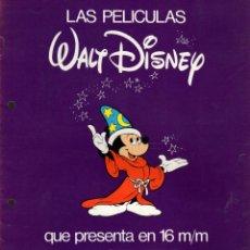 Cinéma: CATALOGO PROFILMAR DE PELICULAS DISNEY EN 16 MM. AÑO 1980. Lote 167072444