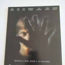 Cine: DARKNESS GUIA PUBLICITARIA ORIGINAL DE CINE. Lote 166857893