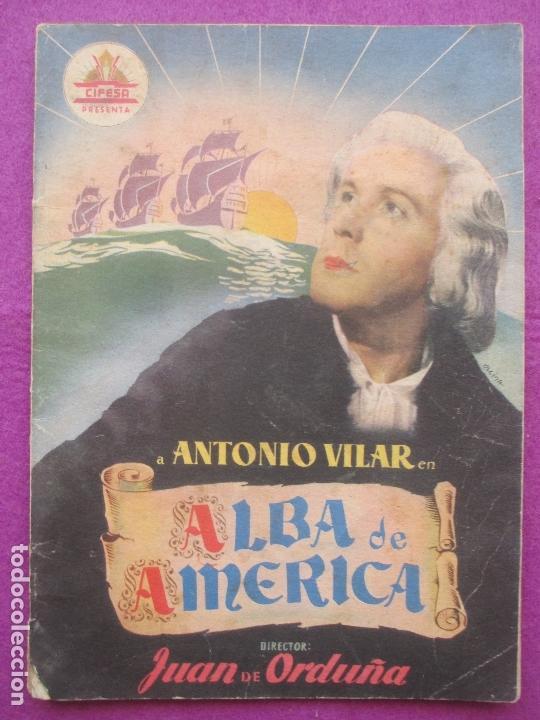 GUIA PUBLICITARIA, CINE, ALBA DE AMERICA, ANTONIO VILAR, G412 (Cine - Guías Publicitarias de Películas )